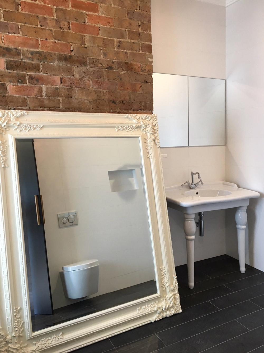 Lilyfield construction clean of bathroom